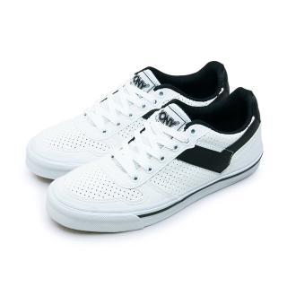 【PONY】女 復古滑板鞋 SHOOTER SKATE(白黑 71U1SH61OW)