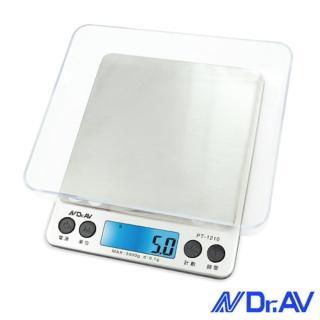 【Dr.AV】微量大秤盤精準電子秤(PT-1210)