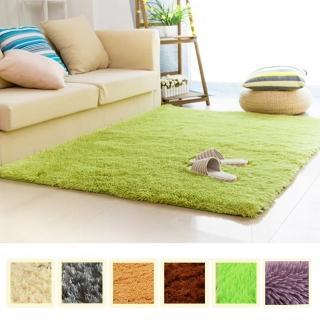 【幸福揚邑】舒壓長毛羊絲絨超軟防滑吸水地墊地毯-共七色(140x200cm)