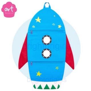 【ART Muffin】掛壁式收納袋(火箭)