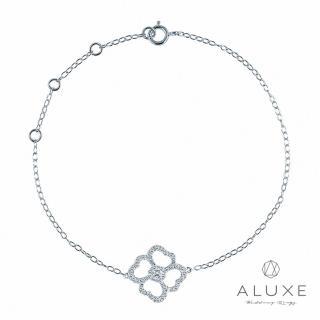 【A-LUXE 亞立詩】18K金 山茶花鑽石手鍊