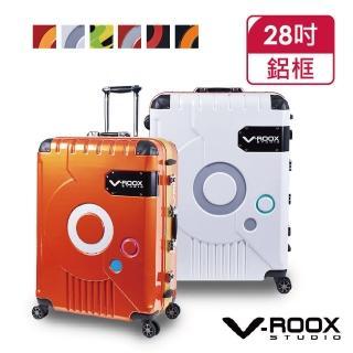 【Pantheon Plaza】V-ROOX ZERO 28吋 時尚潮版撞色太空艙造型硬殼鋁框行李箱 VR-59185(5色可選)