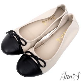 【Ann'S】輕膚系列-優雅小香風全羊皮平底娃娃鞋(米杏)