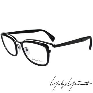 【Yohji Yamamoto 山本耀司】山本耀司時尚立體方框造型光學眼鏡(黑 YY1019-019)