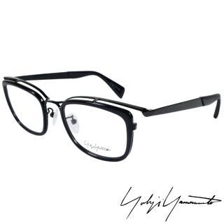 【Yohji Yamamoto 山本耀司】山本耀司時尚立體方框造型光學眼鏡(深藍 YY1019-613)