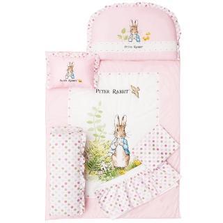 【奇哥】花園比得兔六件床組-M(粉紅)