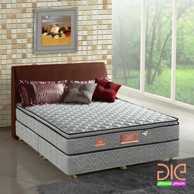 【aie享愛名床】竹碳+3M防潑水+記憶膠真三線彈簧床墊-雙人加大6尺(經濟型)/