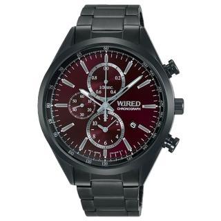 【ALBA】WIRED 精簡俐落三眼計時腕錶(7T92-0SM0R/AY8017X1)