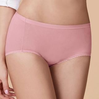 【曼黛瑪璉】中腰寬邊三角生理內褲 M-XL(輕甜粉)