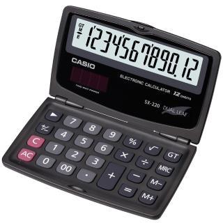 【CASIO】國家考試用摺疊攜帶型12位數計算機(SX-220)