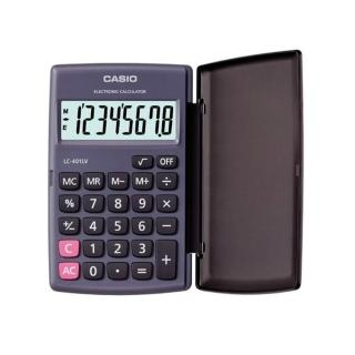【CASIO】8位數國家考試專用可開根號攜帶型計算機(LC-401LV-BK)