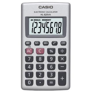 【CASIO】8位數口袋型國家考試專用計算機(HL-820VA)