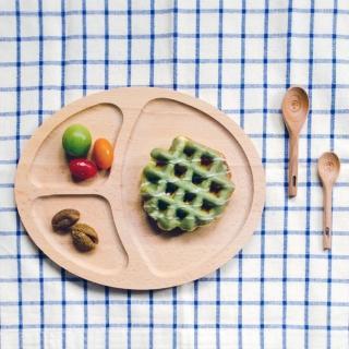 【Homely Zakka】木趣食光日系木質橢圓分隔餐盤