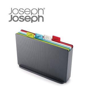 【Joseph Joseph】檔案夾止滑砧板組-雙面附凹槽(小灰)
