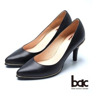 【bac】時尚品味 魅力迷人水鑽鞋跟高跟鞋(黑色)