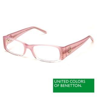 【BENETTON 班尼頓】專業兒童眼鏡 鑲鑽雙色混搭系列(粉紅/橘黃  BB030-01/03)