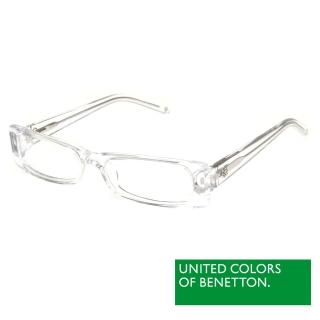 【BENETTON 班尼頓】專業兒童眼鏡 透色方框混搭設計系列(白/粉紅/紅紫/紫粉  BB031-01/02/03/04)