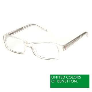 【BENETTON 班尼頓】專業兒童眼鏡 鑲鑽方框混搭設計系列(白/橘紅//紫粉  BB032-01/02/03)