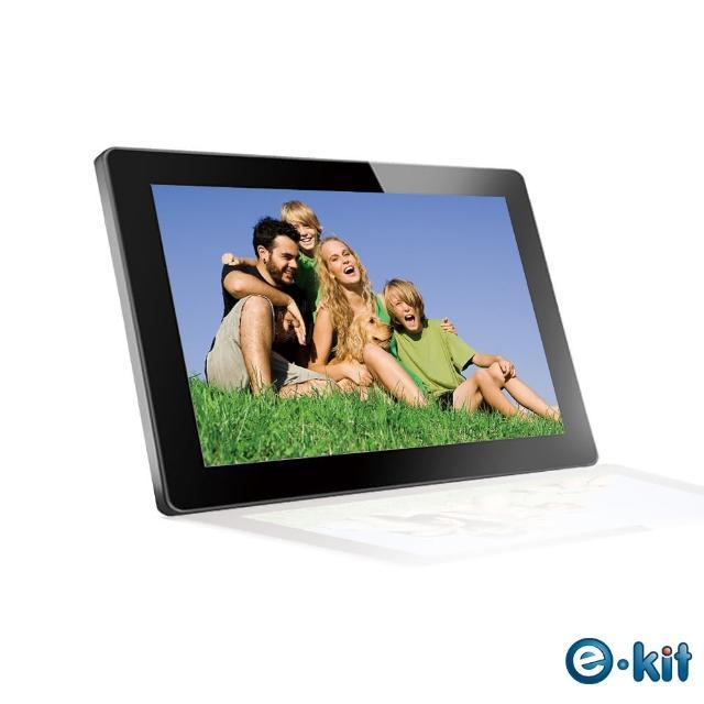 【逸奇e-Kit】15.6吋防刮鏡面數位相框電子相冊-黑色款(DF-VM15)