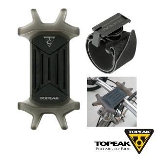 【TOPEAK】OMNI RideCase 4.5-6.5吋多用途彈性矽膠手機套附固定座-黑
