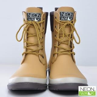 【Neon Walk 尼沃】馬丁中筒-卡其色(雨鞋 雨靴 長筒雨靴 高筒靴 neonwalk)