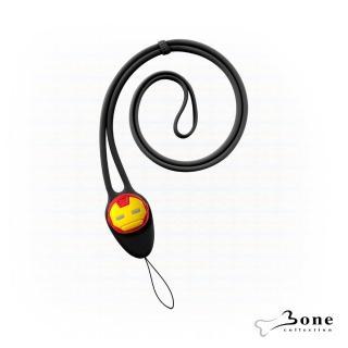 【Bone】大逗扣彈力頸掛繩-鋼鐵人(Marvel 漫威 證件掛繩 手機掛繩)