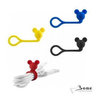 【Bone】米奇造型公仔Q束繩(迪士尼授權 無毒認證矽膠 收線器 捲線)