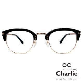 【Optician Charlie】韓國亞洲專利光學眼鏡OU系列(黑 OU BK)