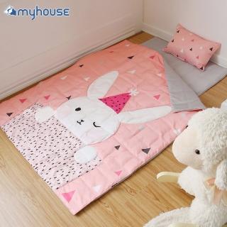 【myhouse】韓國防蹣抗敏派對動物兒童睡袋 -(兔子梅莉莎)