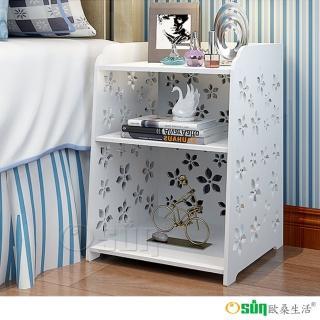 【Osun】DIY木塑板 櫻花床頭櫃 二入組(CE178- C002)