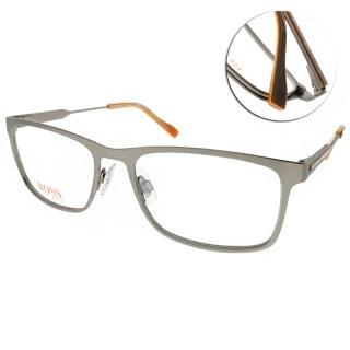 【BOSS ORANGE眼鏡】簡約休閒款(槍銀-橘#BR0231 R80)