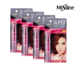 【Mistine】Mistine SUPER MODEL 4D 二合一纖長濃密雙頭睫毛膏4入