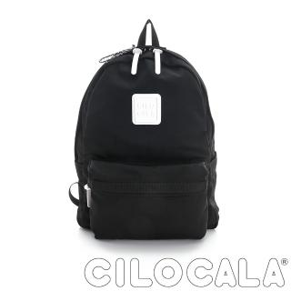【CILOCALA】亮彩尼龍防潑水後背包-大包(黑色)