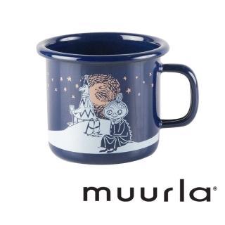 【芬蘭Muurla】冬季羅曼史琺瑯馬克杯-深藍250ml(咖啡杯/琺瑯杯)