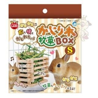 【Marukan】兔兔愛吃草 壁掛式 木製牧草盒 S號(ML-111)