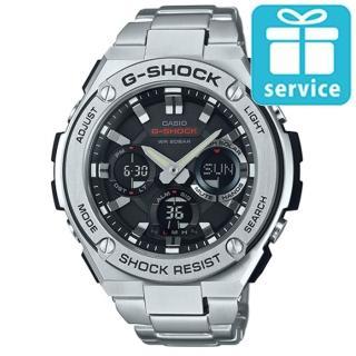 【CASIO】G-SHOCK 絕對強悍防震分層防護構造雙顯錶(GST-S110D-1A)