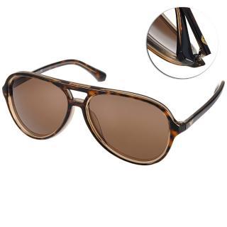 【EMPORIO ARMANI 太陽眼鏡】率性飛行款眼鏡(透琥珀#EA4063F 546573)