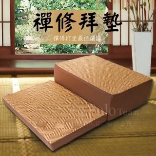 【R.Q.POLO】台灣製造 亞藤透氣記憶座墊 透氣記憶 方型坐墊 禪修 打坐墊 拜墊