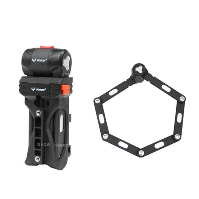 【BOSON】AL105030 高強度鋁合金 折疊專業鎖具 自行車 防盜防塵防雨