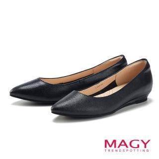 【MAGY瑪格麗特】清新氣質款 親膚舒適尖頭平底鞋(黑色)