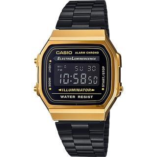 【CASIO】卡西歐 Digital 經典電子錶-黑金(A-168WEGB-1BDF)