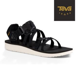 【TEVA】原廠貨 女 Alp 經典設計織帶涼鞋/雨鞋/水鞋(黑色-TV1015182BLK)