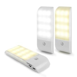 【aibo】USB充電式 迷你智能LED人體感應照明燈(LI-10)