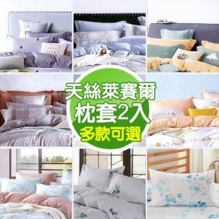 【MITiLOOK】萊賽爾天絲枕套2入(多款可選)