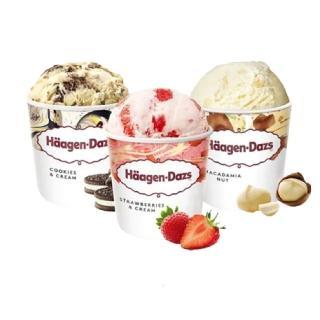 【哈根達斯-冷凍宅配】超人氣口味品脫4入組(草莓/夏威夷果仁/淇淋巧酥任選;473ml/入)