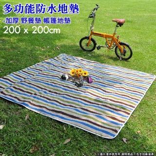 【DIBOTE 迪伯特】豪華舒絨防水野餐露營墊(200X200)