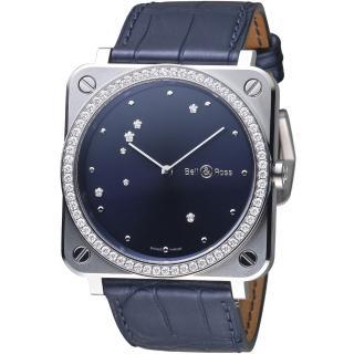 【Bell & Ross】魔法星空天鷹座時尚腕錶(BRS-EA-ST-LGD/SCR)