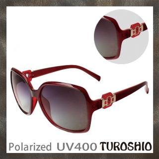 【Turoshio】TR90 偏光太陽眼鏡 TR6305-3 紅 贈鏡盒、拭鏡袋、多功能螺絲起子、偏光測試片(偏光太陽眼鏡)
