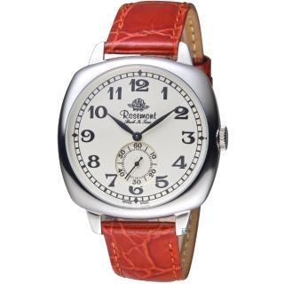 【玫瑰錶 Rosemont】戀舊系列獨立秒針復古腕錶(TB901-SWA-DRD)