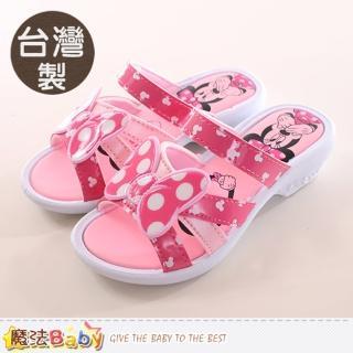 【魔法Baby】17-21cm女童鞋 台灣製迪士尼米妮正版涼拖鞋(sk0070)